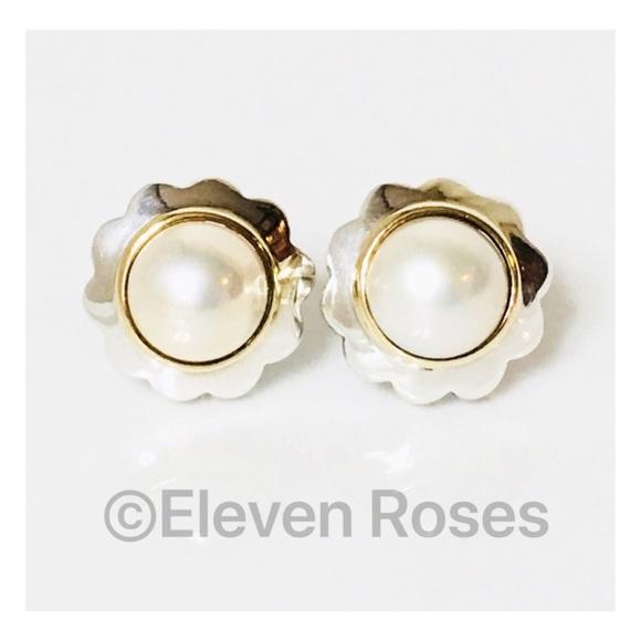a798886bad92b Tiffany & Co. Sterling & 18k Mabe Pearl Earrings